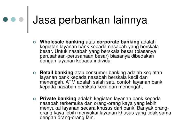 Jasa perbankan lainnya