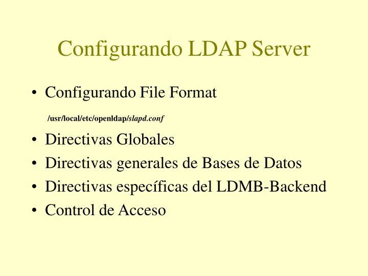 Configurando LDAP Server