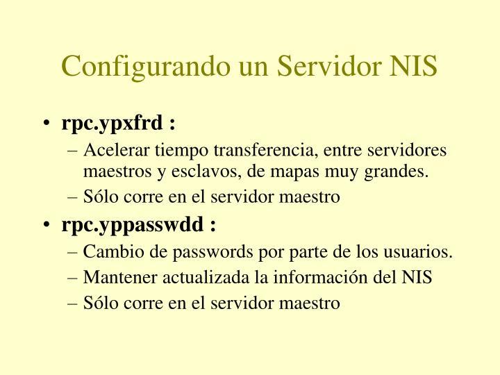 Configurando un Servidor NIS
