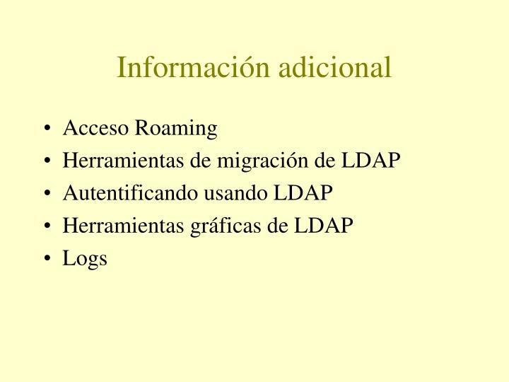Información adicional