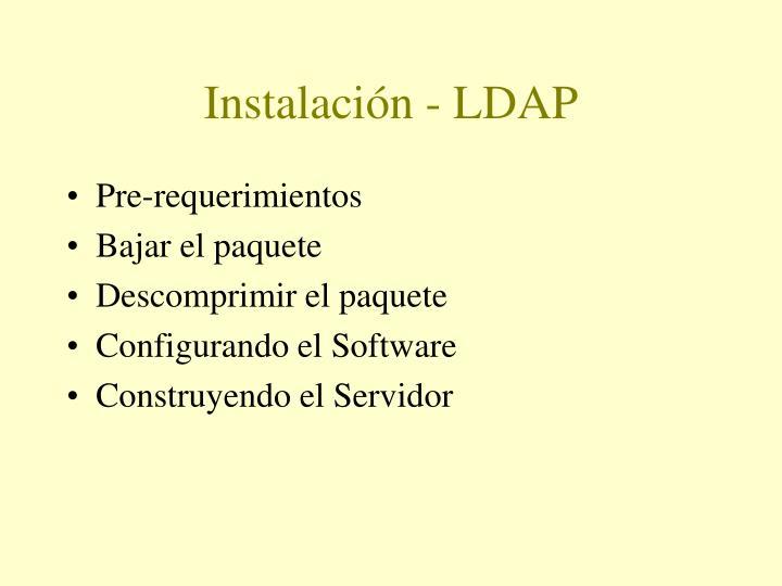 Instalación - LDAP
