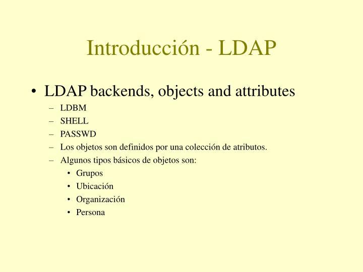 Introducción - LDAP