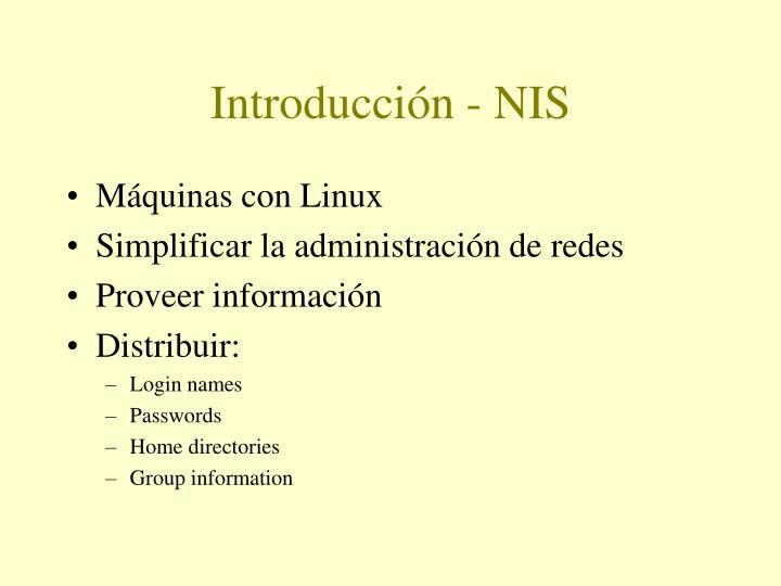 Introducción - NIS
