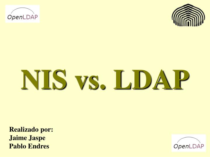 Nis vs ldap