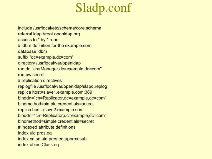 Sladp.conf