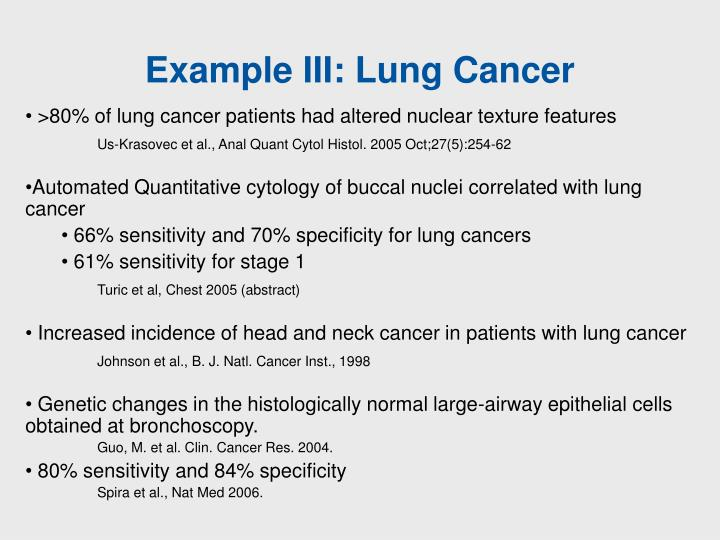 Example III: Lung Cancer