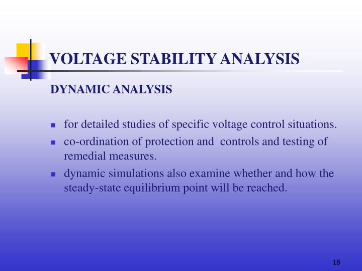 VOLTAGE STABILITY ANALYSIS