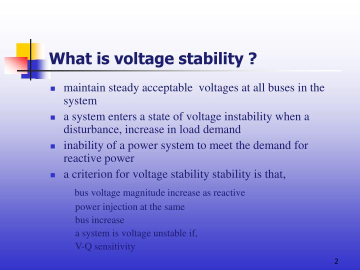 What is voltage stability