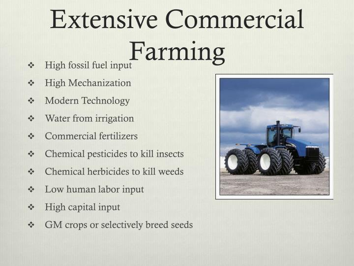 Extensive Commercial Farming