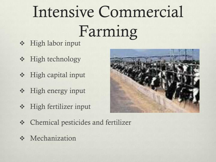 Intensive Commercial Farming