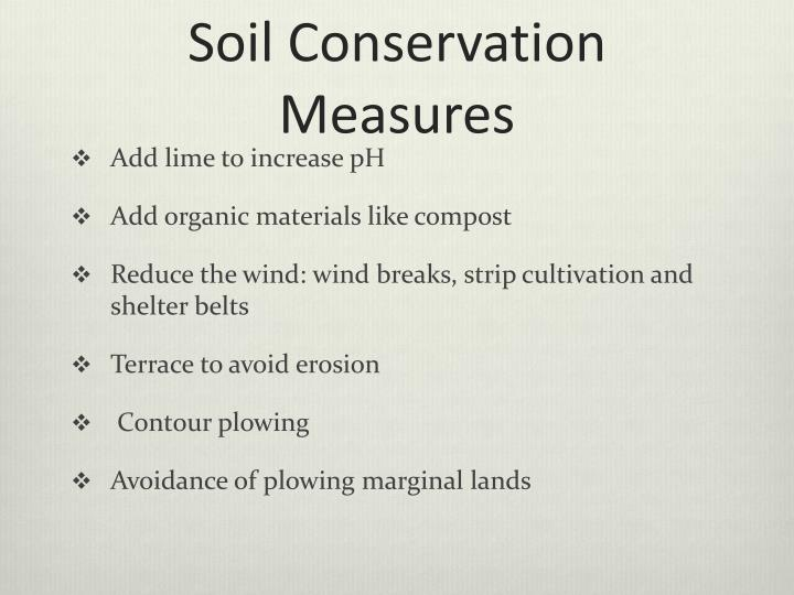 Soil Conservation Measures