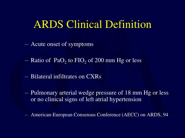 ARDS Clinical Definition