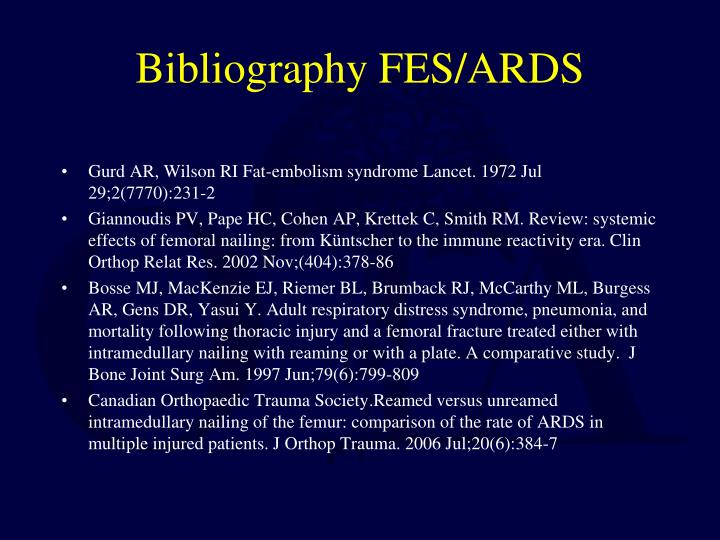 Bibliography FES/ARDS