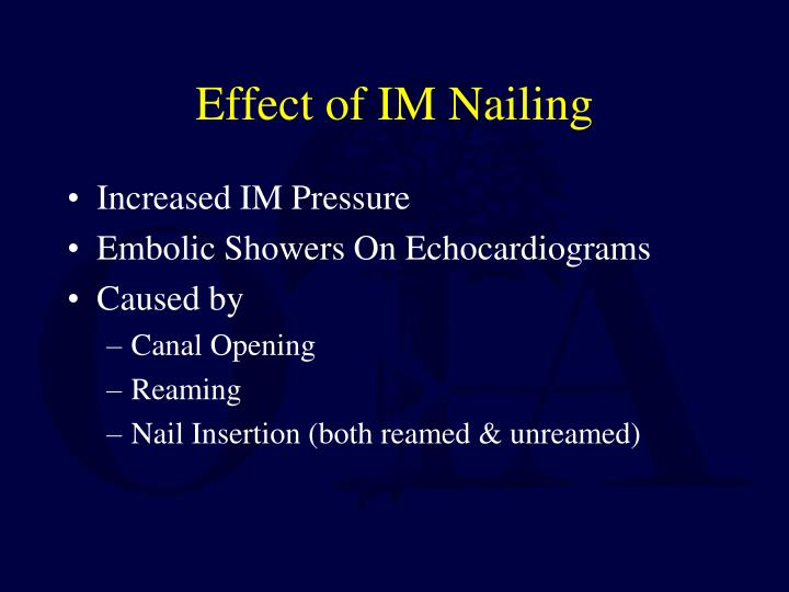 Effect of IM Nailing