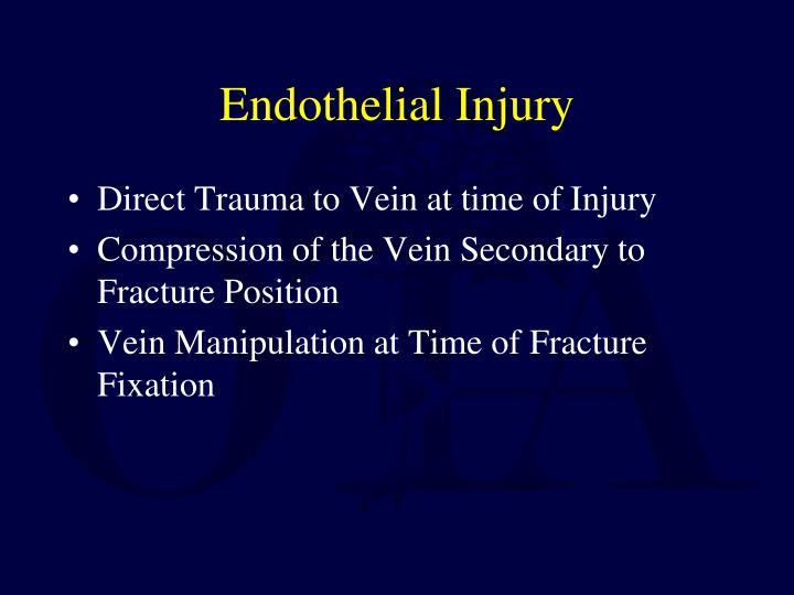 Endothelial Injury