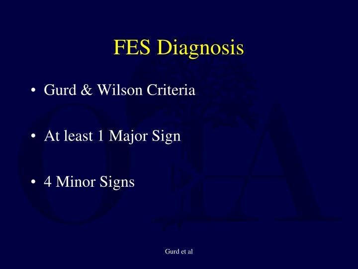 FES Diagnosis
