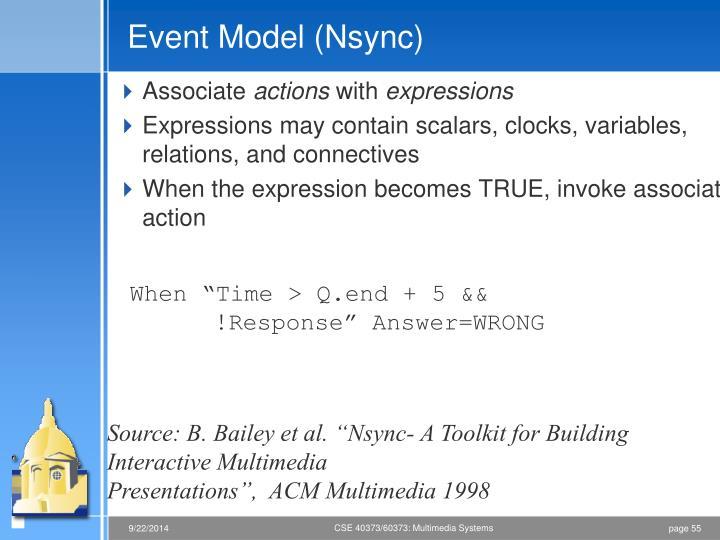 Event Model (Nsync)