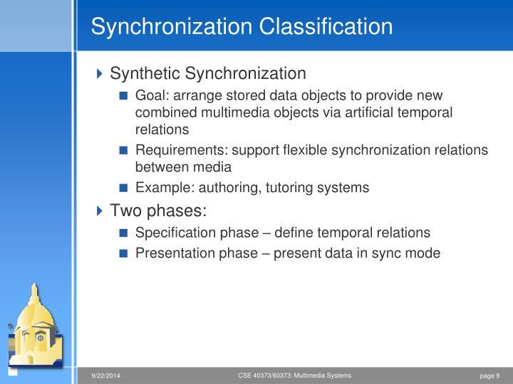 Synchronization Classification