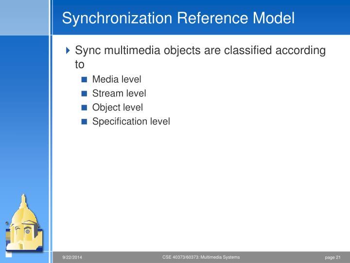 Synchronization Reference Model