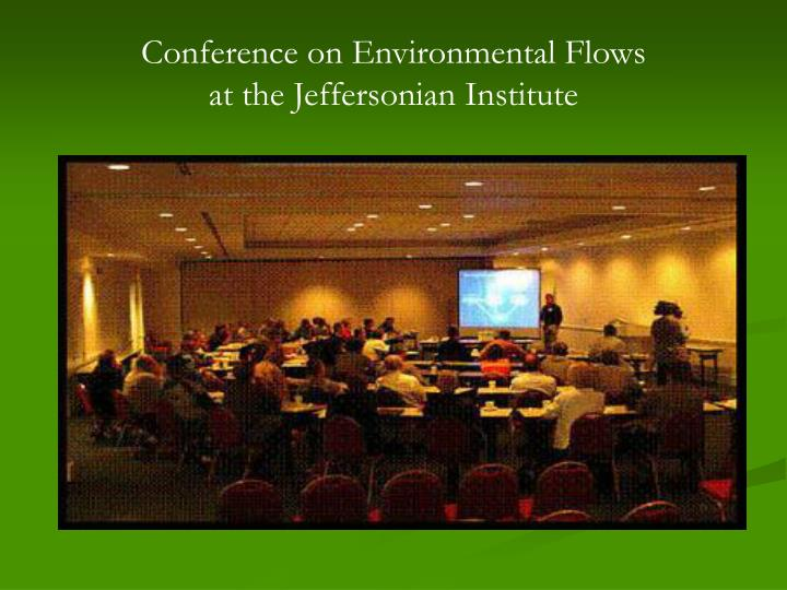 Conference on Environmental Flows