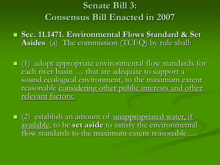 Senate Bill 3: