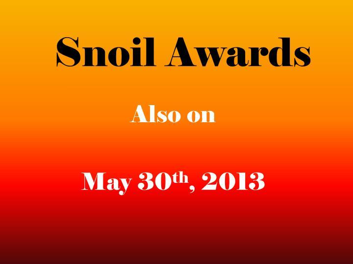 Snoil Awards
