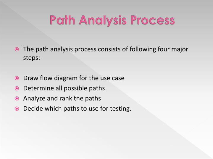 Path Analysis Process