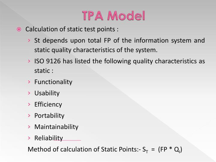 TPA Model