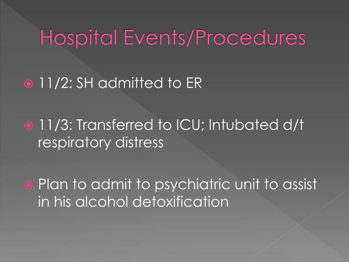Hospital Events/Procedures