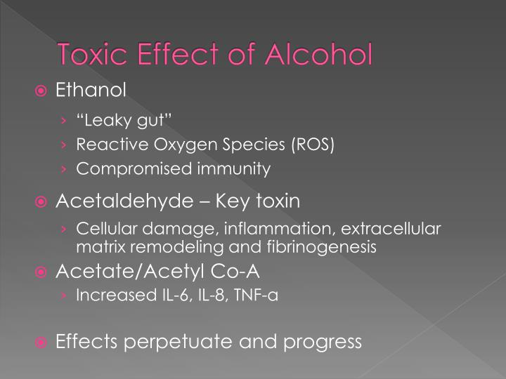 Toxic Effect of Alcohol