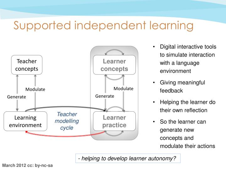 Supported independent learning