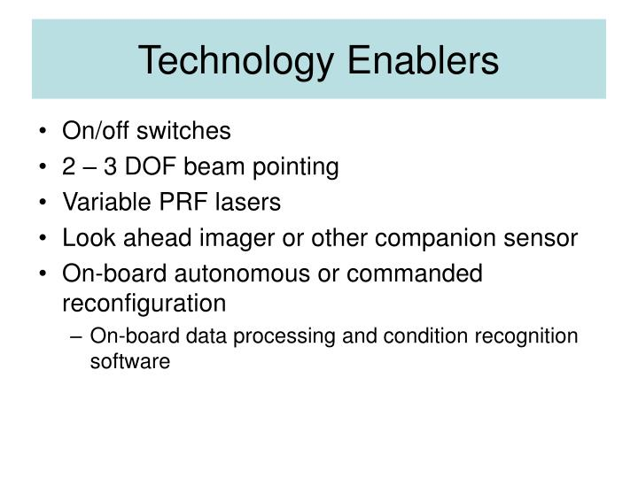 Technology Enablers