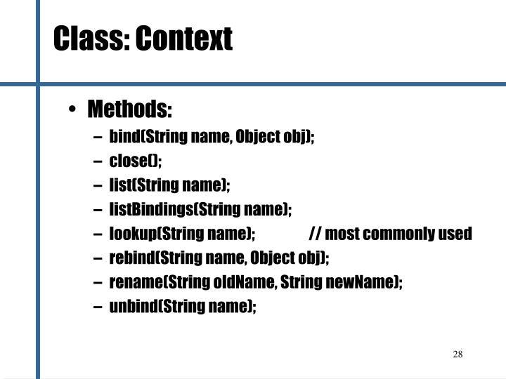 Class: Context