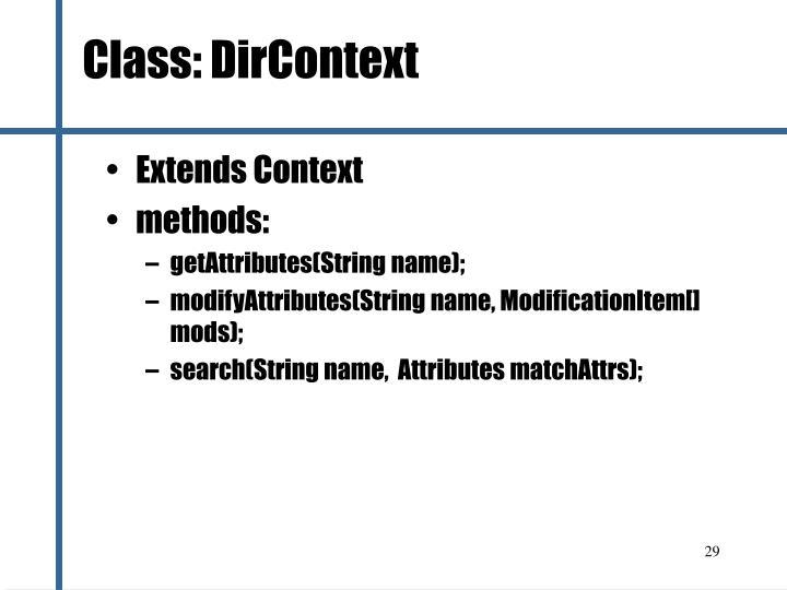 Class: DirContext