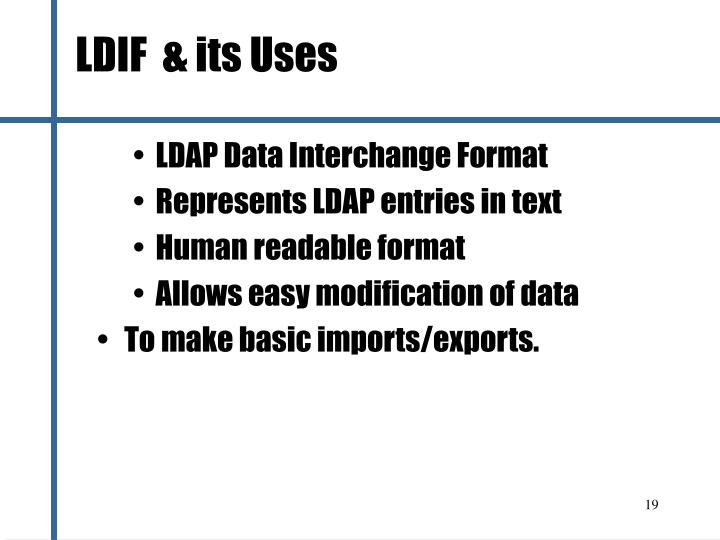 LDIF  & its Uses