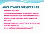 advantages for retailer