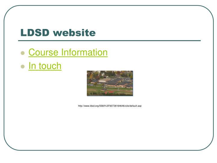 LDSD website