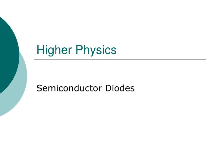 Higher physics