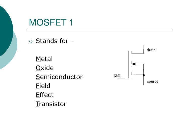 MOSFET 1