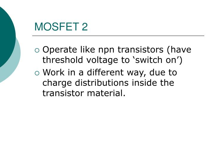 MOSFET 2