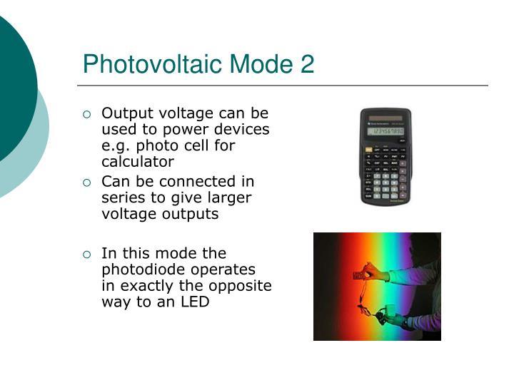 Photovoltaic Mode 2