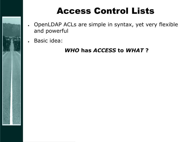 Access Control Lists