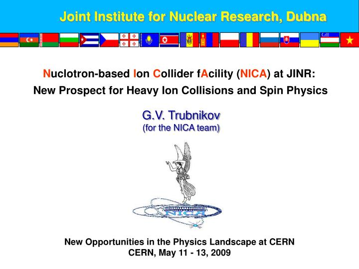 Joint Institute for Nuclear Research, Dubna