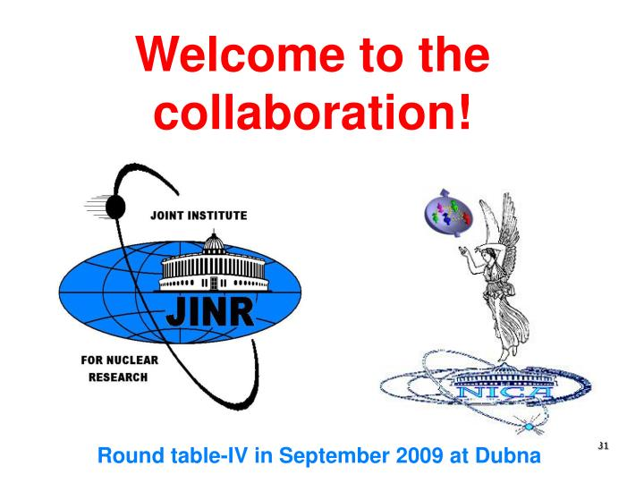 Welcome to the collaboration!