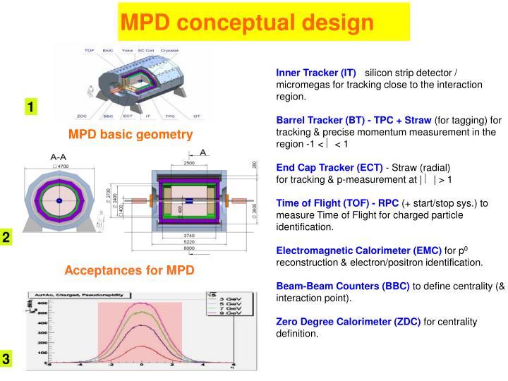 MPD conceptual design