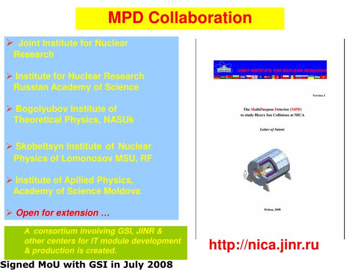 MPD Collaboration