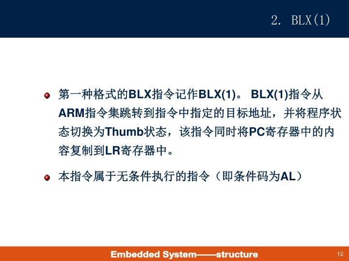 2. BLX(1)
