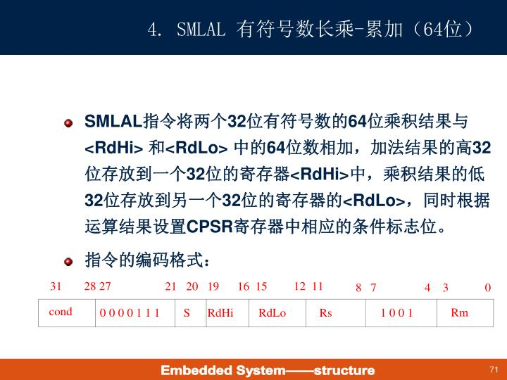 4. SMLAL