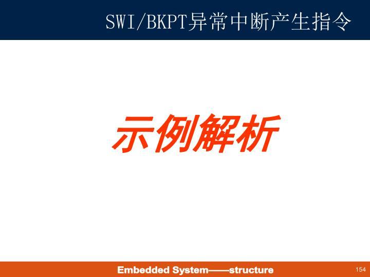 SWI/BKPT