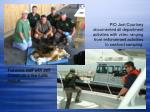 fisheries staff with jeff corwin on a live turtle rescue